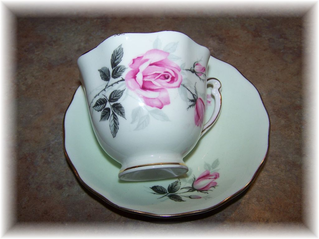 Colclough Bone China Tea Cup & Saucer Rose Motif