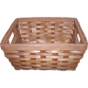 A Wonderful Gently Used Hand Woven Vintage Basket with Handles