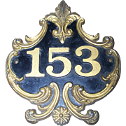 Decorative Cast Metal Ware House Number Address Street Sign Plaque Number 153
