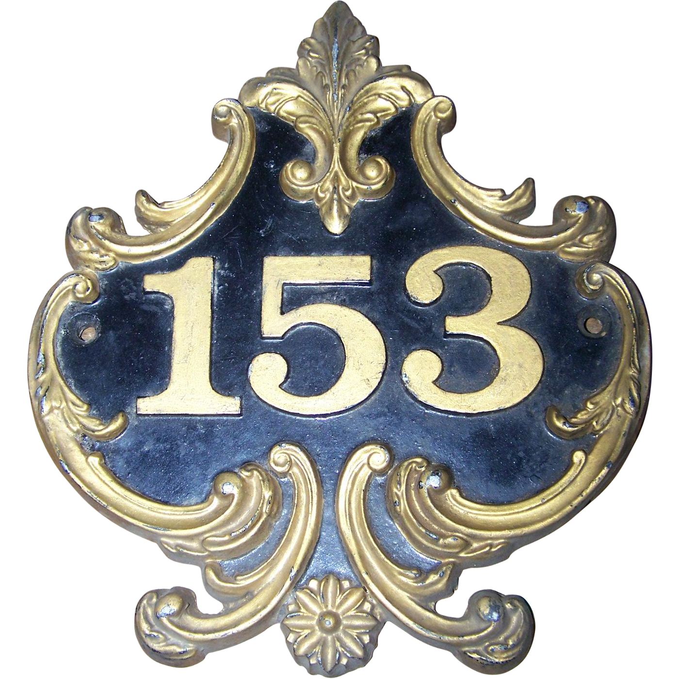 decorative cast metal ware house number address street sign plaque victoria 39 s purrrrfect. Black Bedroom Furniture Sets. Home Design Ideas