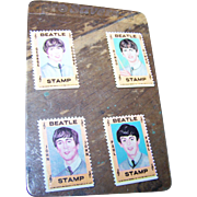 Four Unused Vintage 1964 Hallmark Beatles Stamps Ringo Paul John George