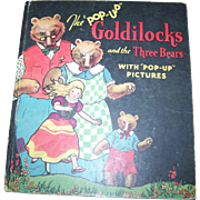 Collectible Vintage Goldilocks and the Three Bears Pop Up Book Hardcover 1934  Childrens Book