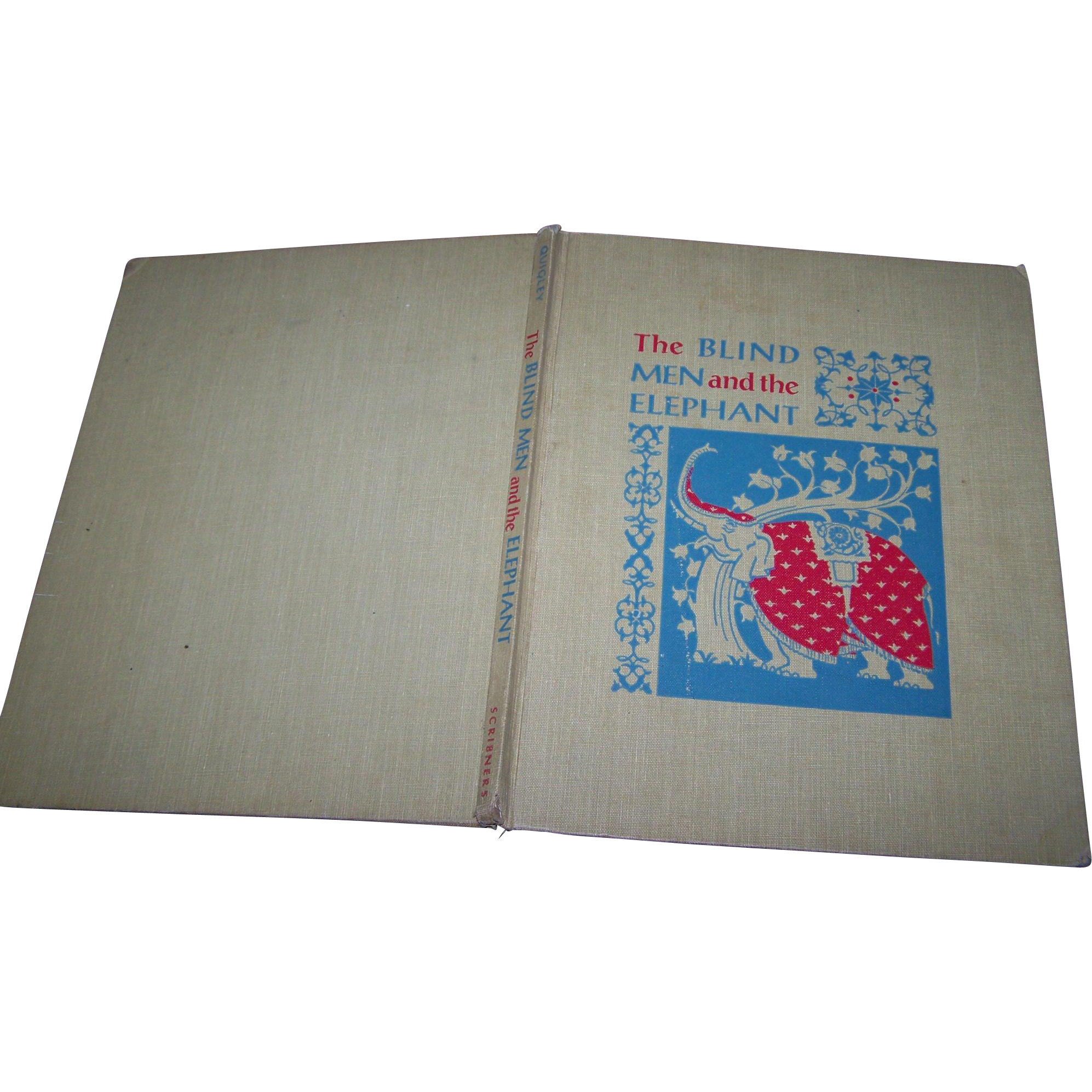"Hard Cover Vintage Book "" The Blind Men and the Elephant ""  An Old Tale From The Land of India"