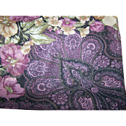 Pretty Vintage Sheer Floral Paisley Pattern Ladies Fashion Scarf