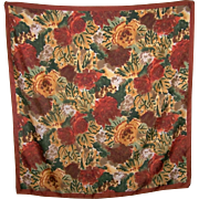 Pretty Impressionist Style Floral Pattern Art of The Scarf Italy