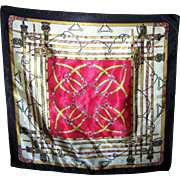 A Small Decorative Equestrian Tack  Rod  Scarf Handkerchief