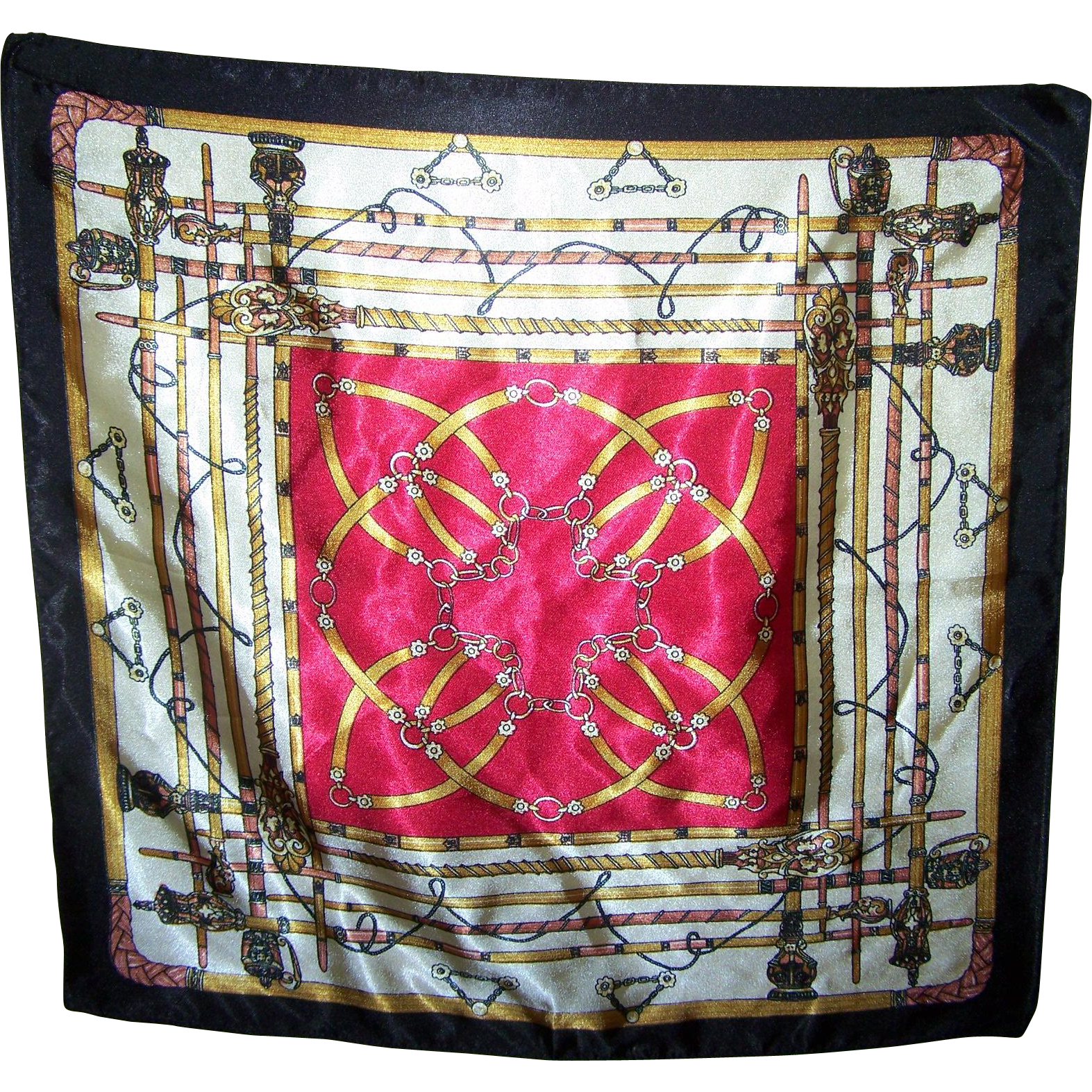 Small Decorative Equestrian Tack  Rod  Scarf Handkerchief