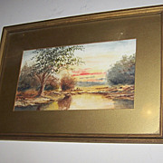 LOVELY Vintage Scenic  Water Color Painting Artisit Signed