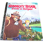 Hard Cover a Little Golden Book Smokey Bear Finds a Helper