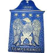 Vintage Metalware 1808 Eagle Temperance Plaque Made in USA