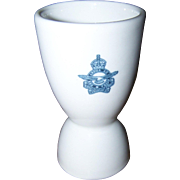 Classic White WW2 Canadian Air Force Logo Double China Egg Cup Eggcup