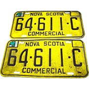Vintage Nova Scotia License Plate Matching Commercial Set