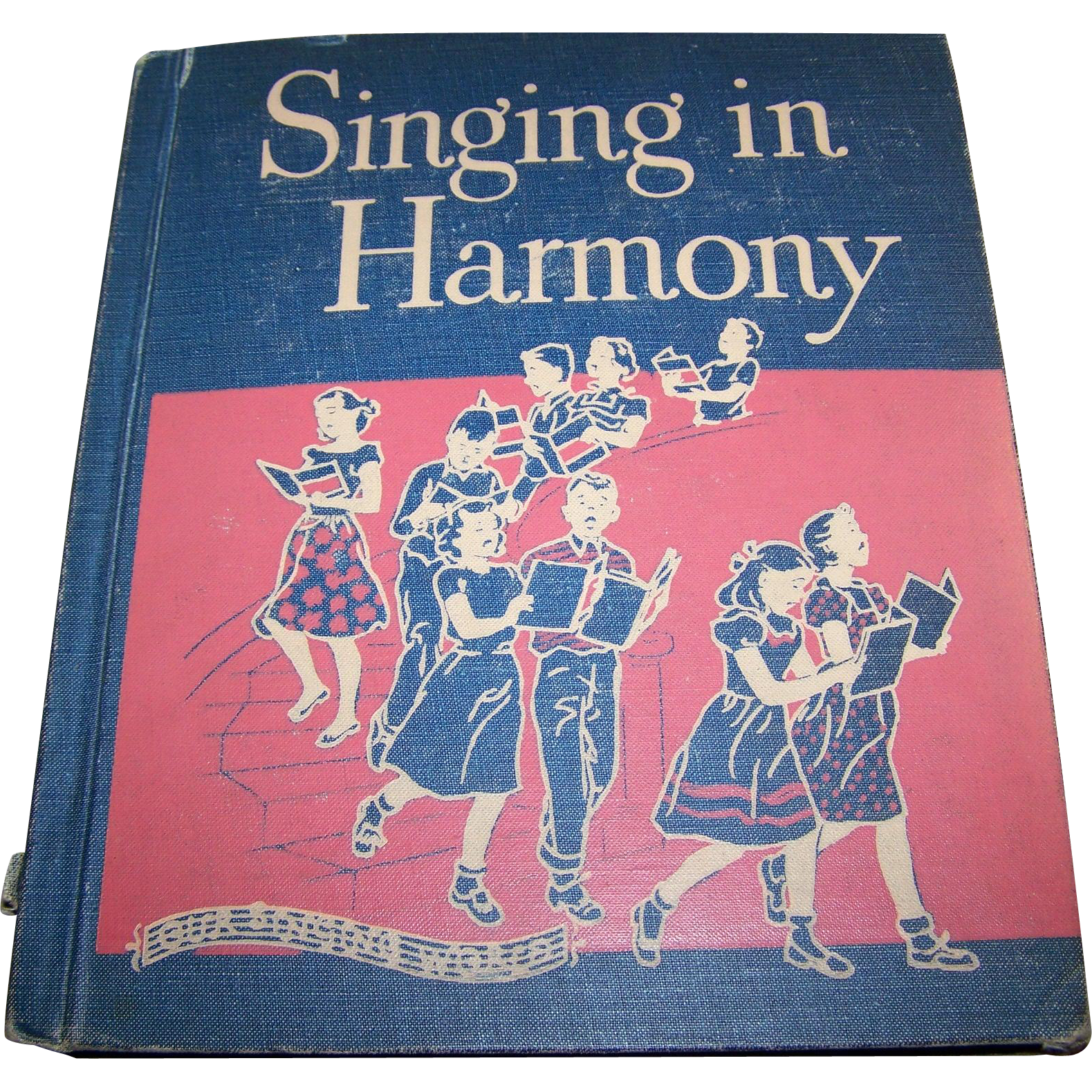 Vintage Hard Cover Children's School Music Book Singing in Harmony