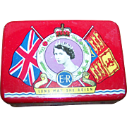 Vintage Advertising OXO  Canada Coronation  Royalty Tin Queen Elizabeth 1953