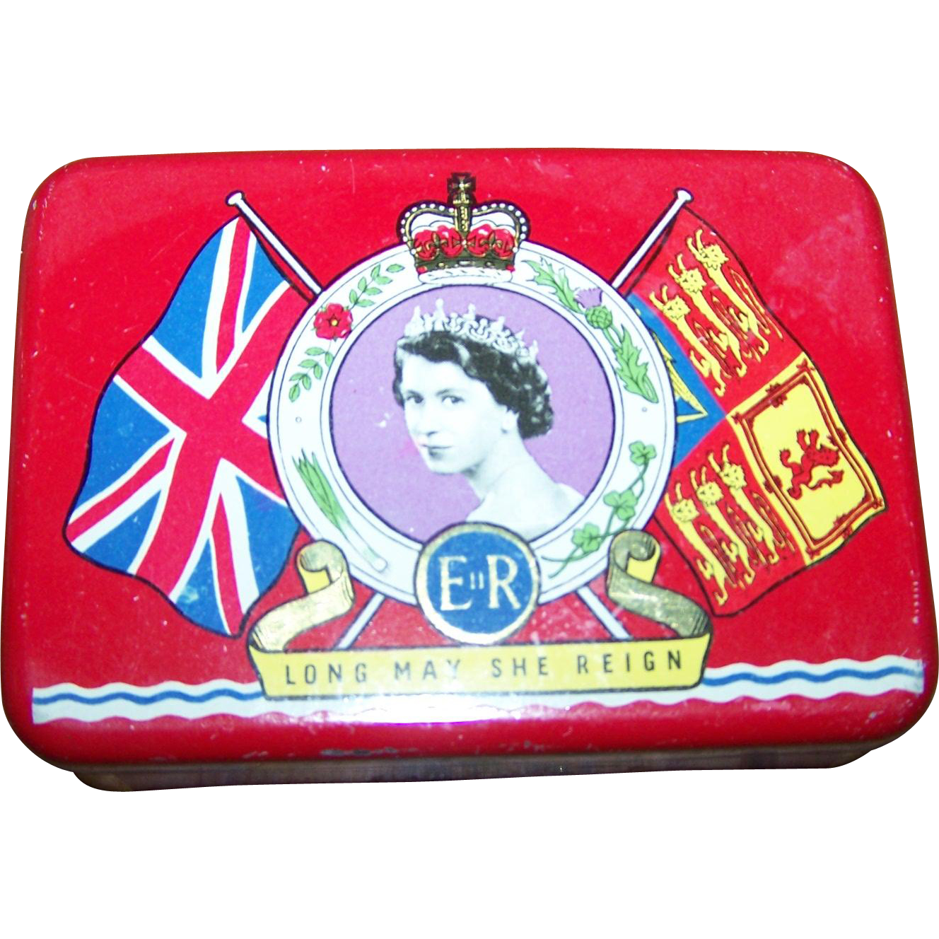 Vintage Advertising OXO  Canada Coronation  Royalty Tin Queen Elizabeth 1953