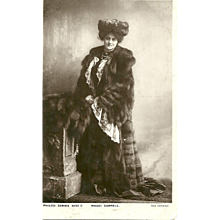 Vintage Post Card Stage Beauty  Maudi Darrell  in Fur Hat & Coat Philco Series
