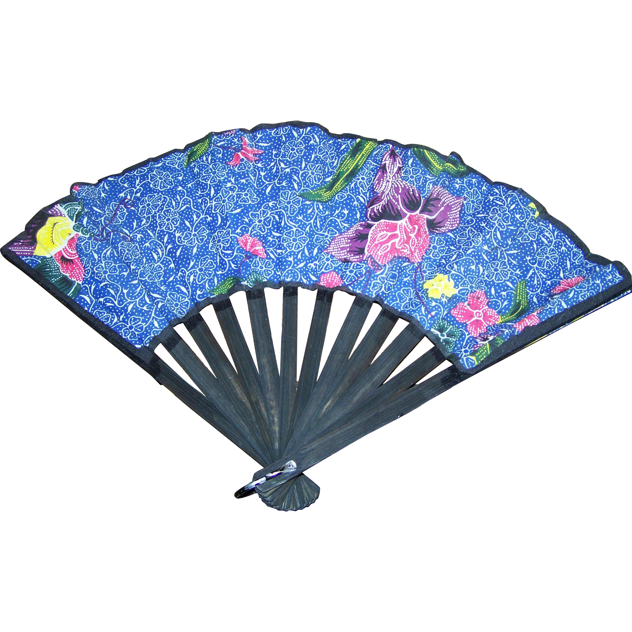 Pretty delicate vintage fan cloth and wood flower floral for L furniture warehouse victoria bc