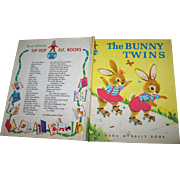 "Hard Cover Children's Book "" The Bunny Twins "" by Helen Wing Rand McNally"