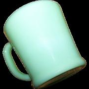 Vintage D Handle Green Jadite Jadeite Glass Mug Oven Ware Fire King