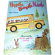 A Charming Children's Vintage Hard Cover Book Happily Bumpily Noisily Whitman