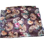 A Beautiful Vintage Scarf Featuring Paisley Floral Pattern by Berkshire Made in Italy