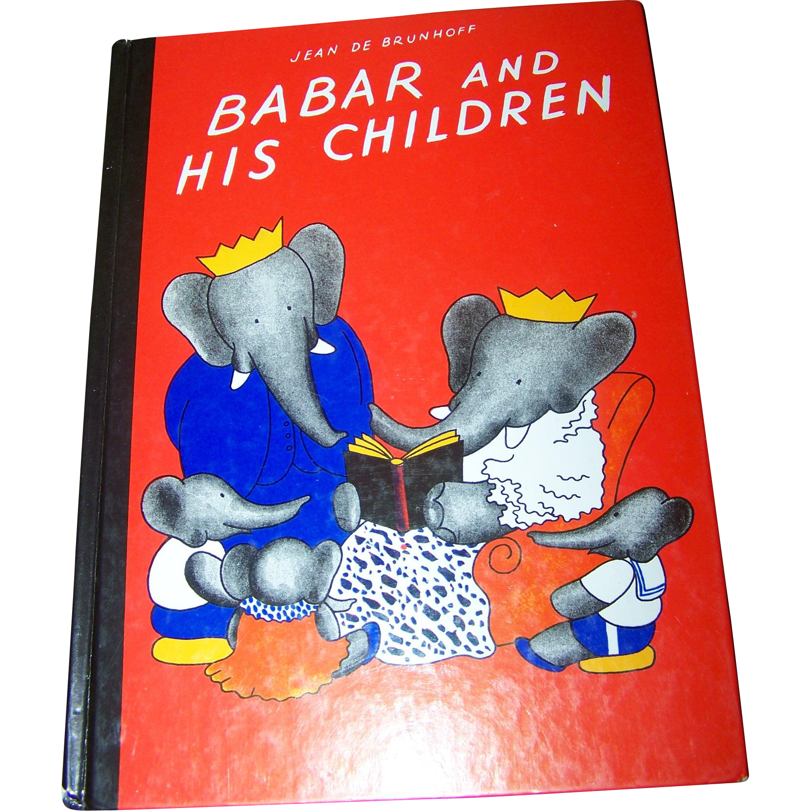 "Vintage Hard Cover Children's Book "" Babar  And His Children "" 1966"