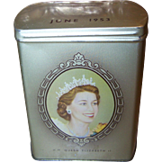 1953 Coronation of HM Queen Elizabeth II Souvenir Tin by Fox's Glacier Mints Royal Souvenir Royalty Coronation
