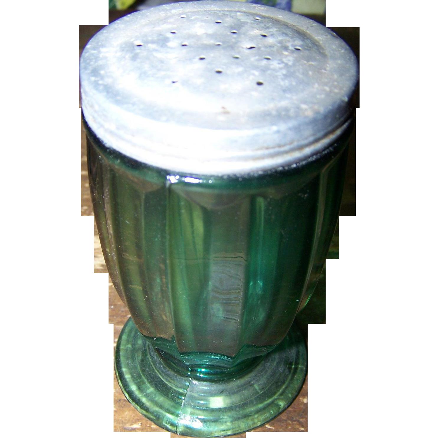 Jeanette Glass Jenny Ware Ultramarine Green Shaker with Lid