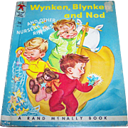 Wynken Blynken and Nod and Other Nursery Rhymes  Vintage Tip Top Elf  Book