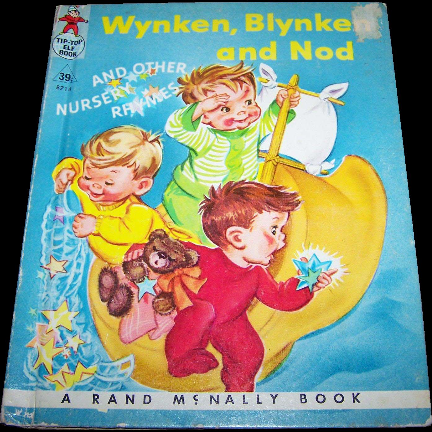 Wynken Blynken and Nod and Other Nursery Rhymes  Vintage Tip Top Elf  Book