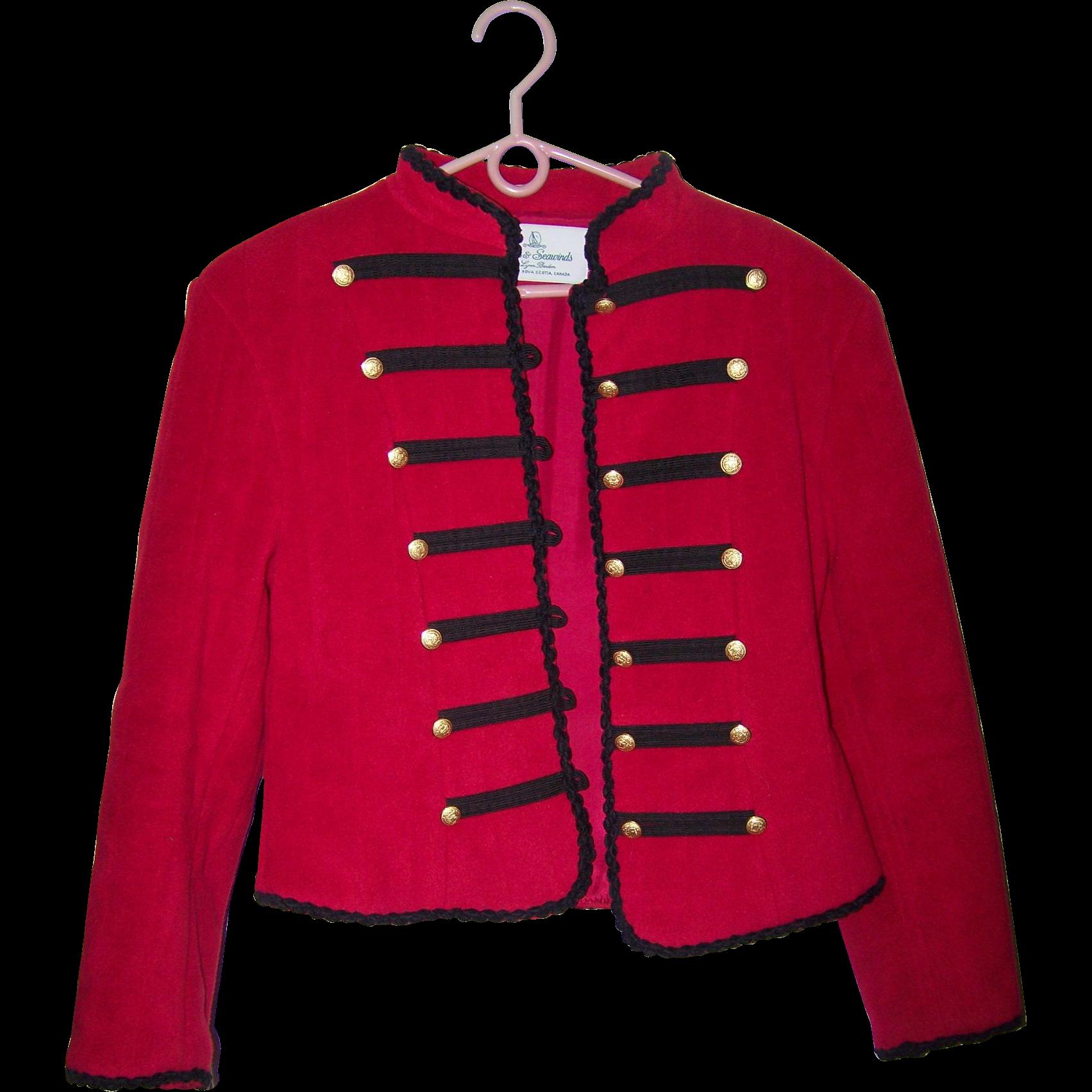 Vintage Designer Vicki Lynn Bardon Suttles & Seawinds Size P Red Short Jacket