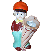 Googly Eyed Hand Painted Ceramic Figural  Tooth Brush Holder
