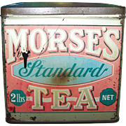 Advertising Tin Box MORSE'S  Standard Tea The Good Old Canadian Family Tea