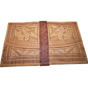 Vintage Decorative Moroccan Tooled  Soft Leather  Wallet  Billfold Gently Used