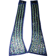 Sweet Ladies Vintage Deco Era Rhinestone & Glass Bead Silk Collar