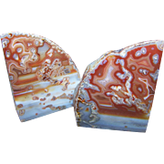 Stunning Decorative Geode Agate Quartz Bookends British Columbia Canada