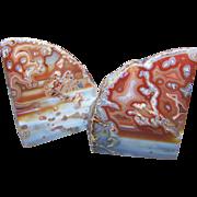 Stunning Decorative Geode Agate Quartz Bookends British Columbia Canada