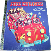 "Charming  Hard Cover Children's Book "" Fire Engines ""  Golden Press New York"