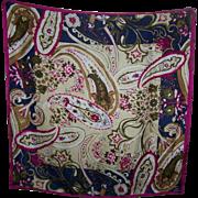 Lovely Quality Designer Signer OSCAR Floral Print Silk Scarf