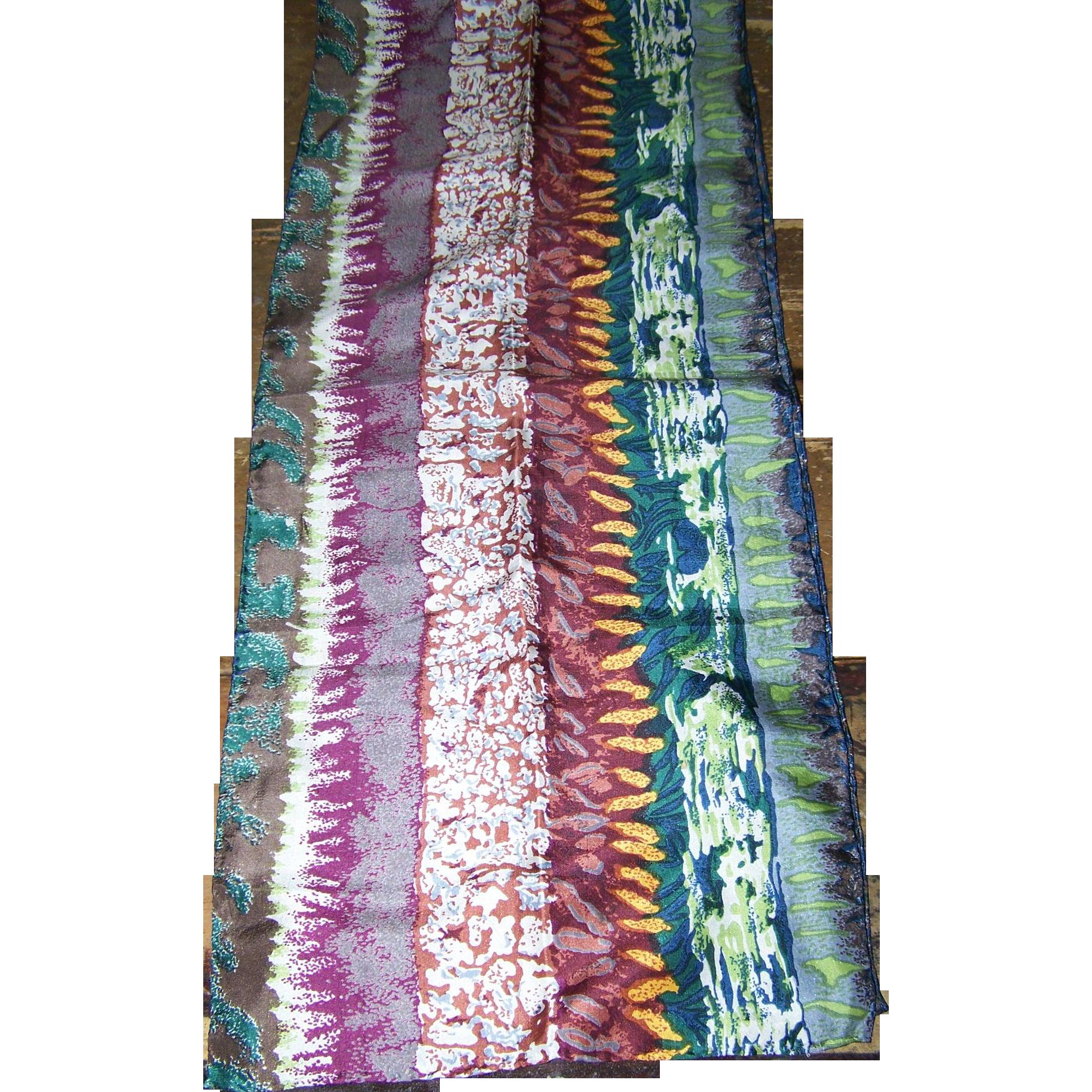 Lovely  Vintage Fashion Print Long Rectangular Ladies Scarf