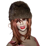Pretty Vintage Muskrat Fur Ladies Fashion Hat