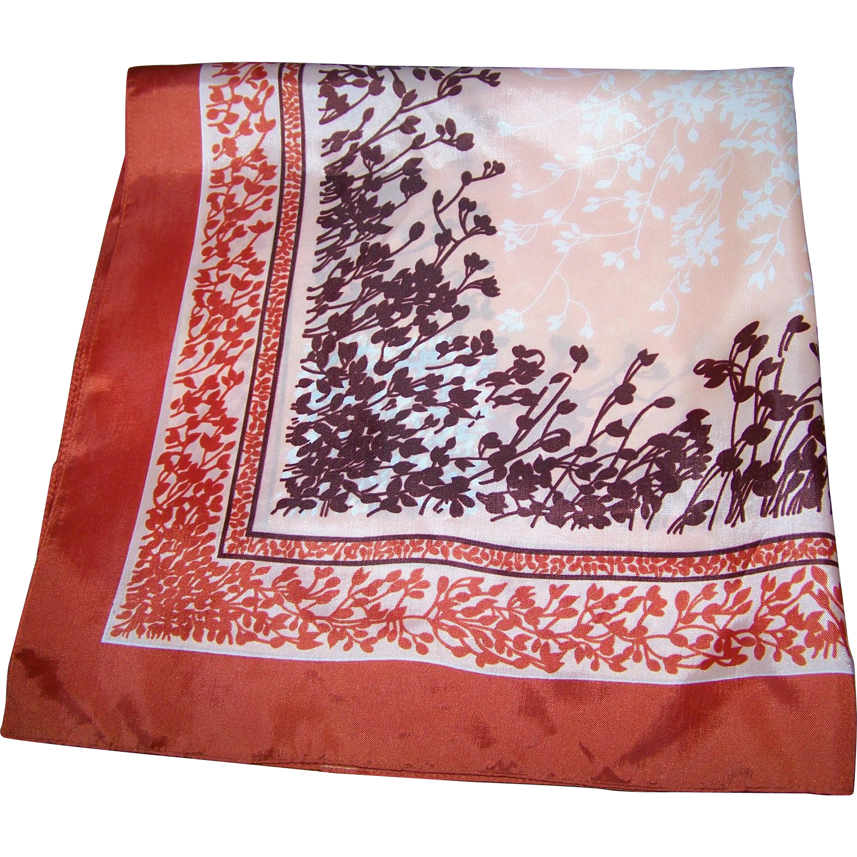 Lovely Vintage Dawson Maxwell Ladies Fashion Scarf Wearable Art Fall Flowers