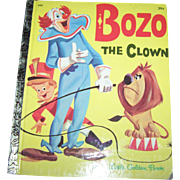 "Charming Illustrated Children's Book "" Bozo The Clown "" A Little Golden Book"