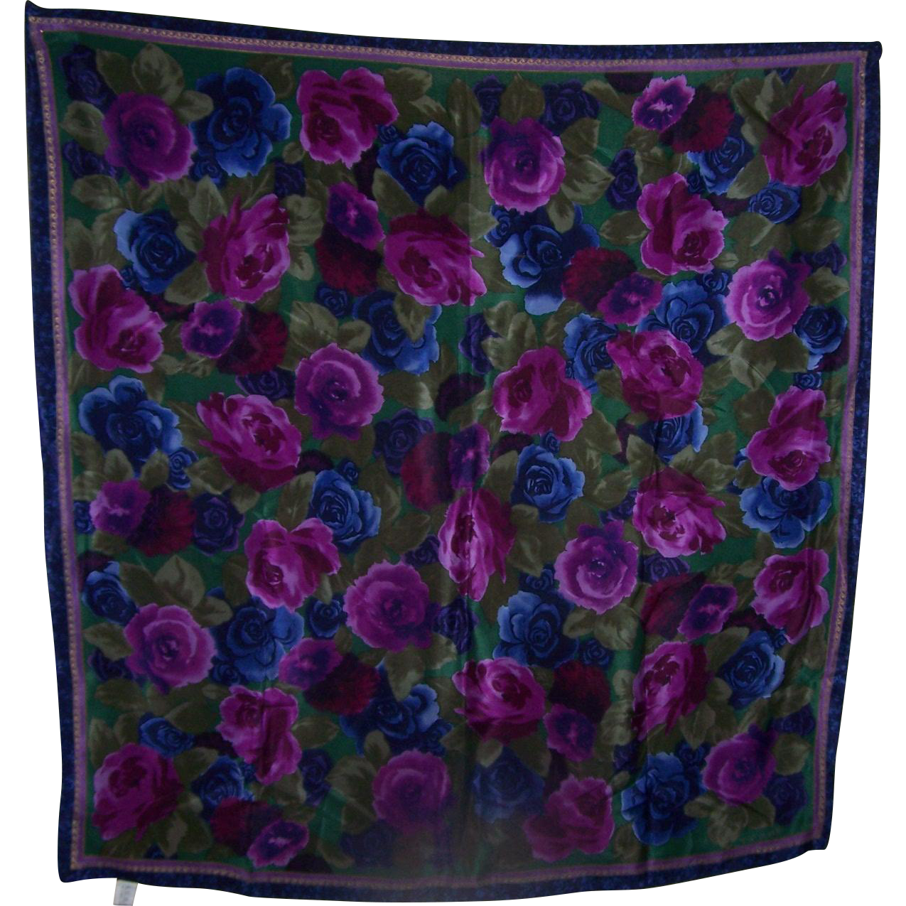 Beautiful Vintage Designer Signed ECHO SIlk Floral Pattern Ladies Fashion Scarf