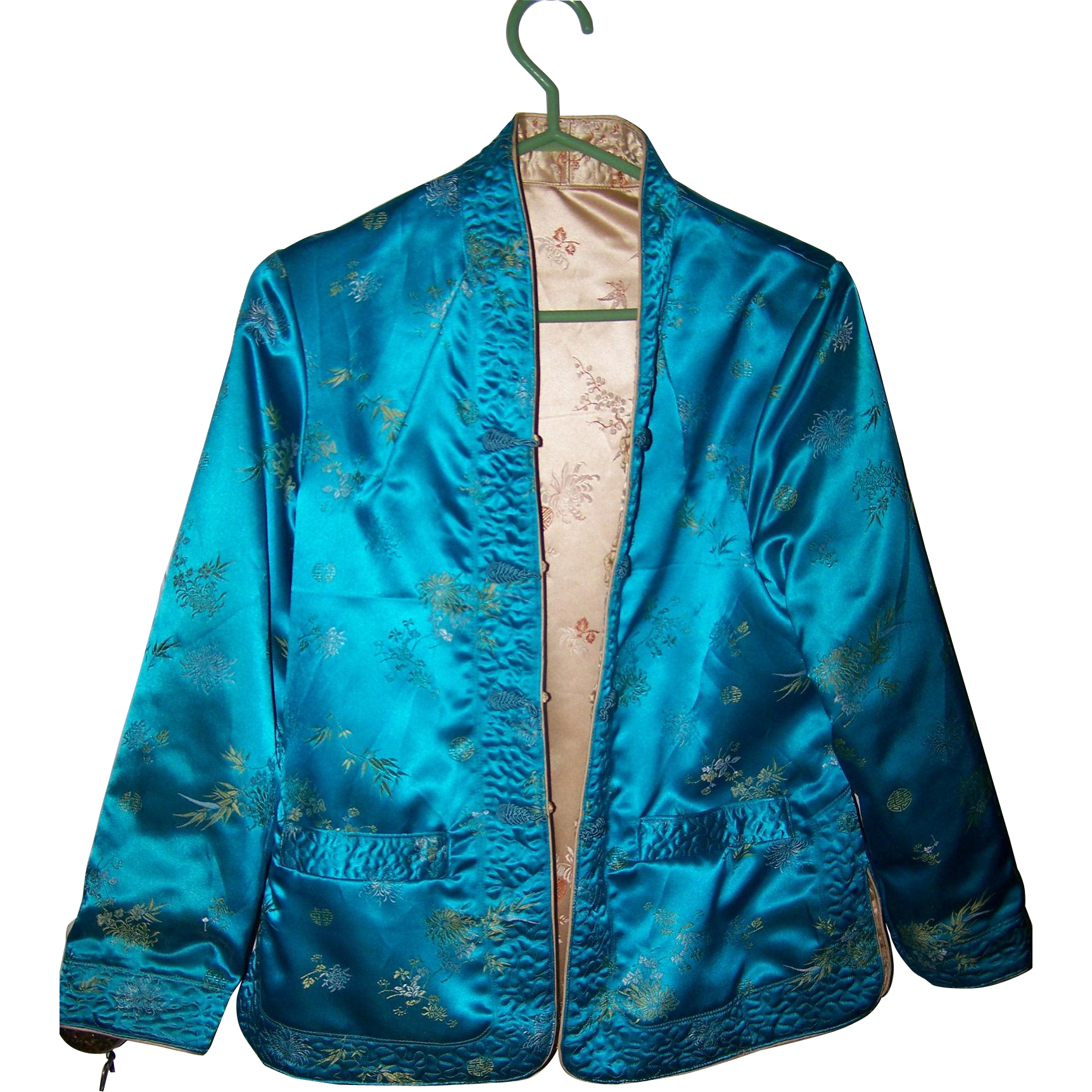 Lovely Quality  Gently Used Reversible MEEI LIH Asian Style Silk Jacket