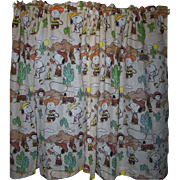 CHARLIE BROWN Children's Curtains Snoopy Peanuts Gang Western Theme