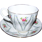 Royal Albert Tea Cup Saucer Set  England Floral Theme Minuet