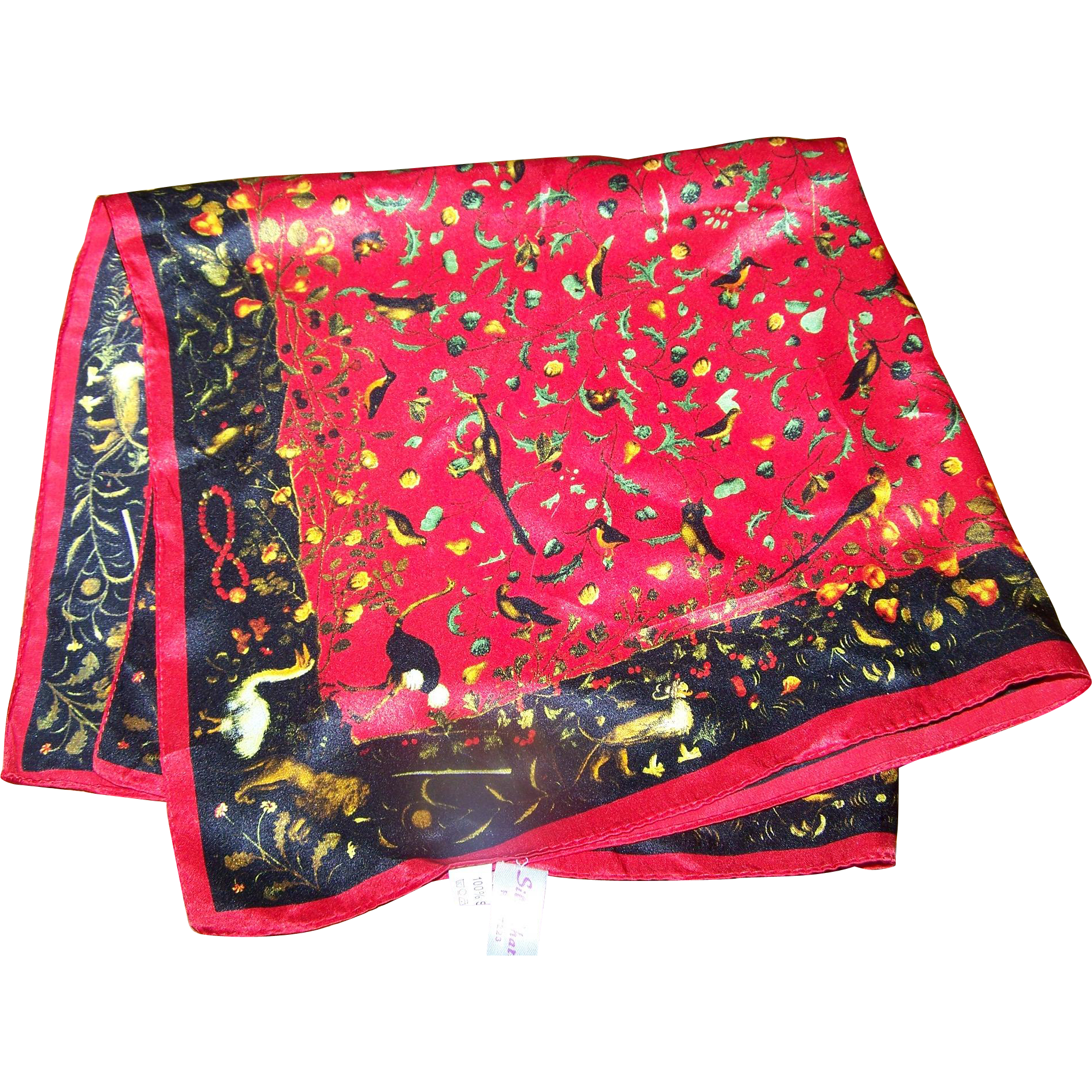 What a pretty small 100 silk ladies fashion scarf bird for L furniture warehouse victoria bc