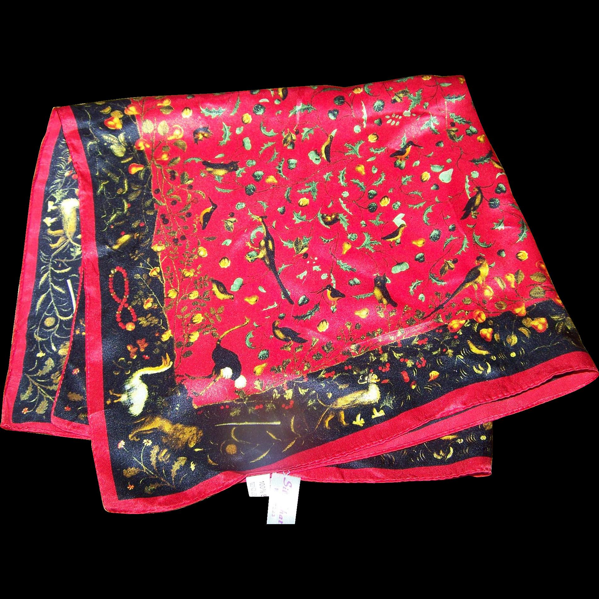 What a pretty small 100 silk ladies fashion scarf bird for L furniture warehouse victoria bc