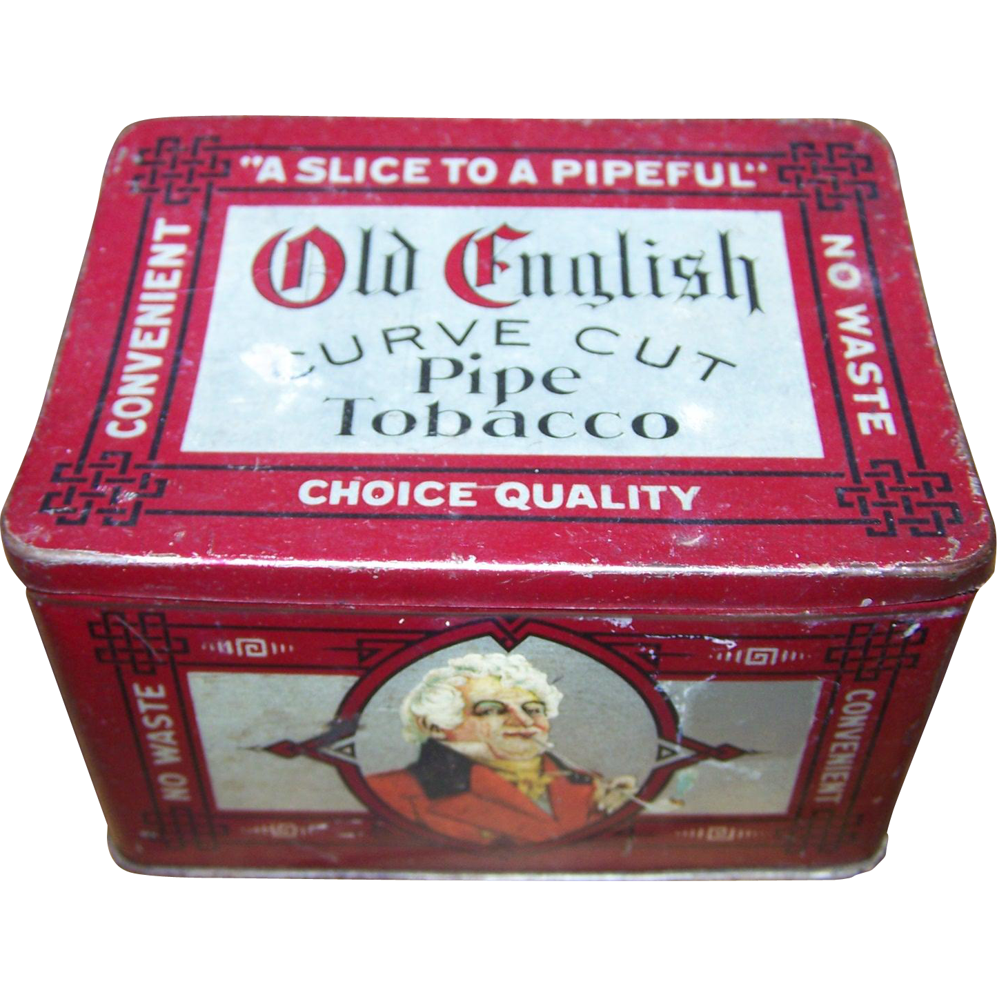 Advertising Tobacco Tin Box Old English Curve Cut Pipe Tobacco
